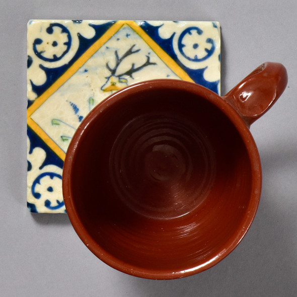Dutch Stag in Diamond Tile by The Painted Lily, with mug