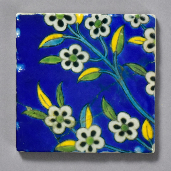 17th Century Middle Eastern Tile by The Painted Lily
