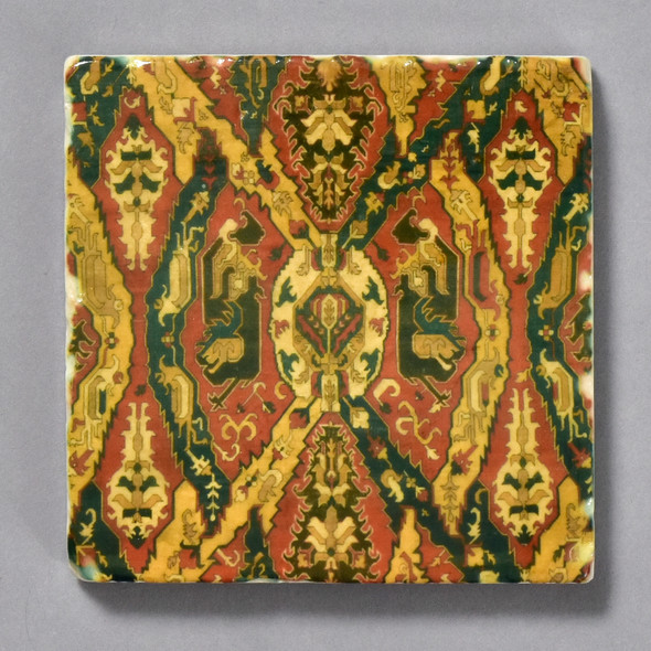 Caucasian Dragon Rug Tile by The Painted Lily