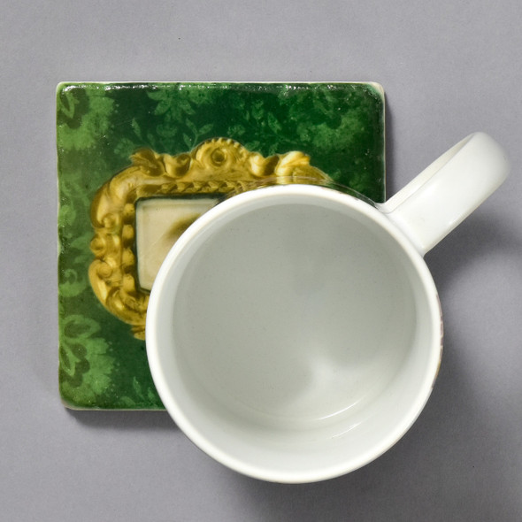 Portrait of a Left Eye Tile by The Painted Lily, with mug