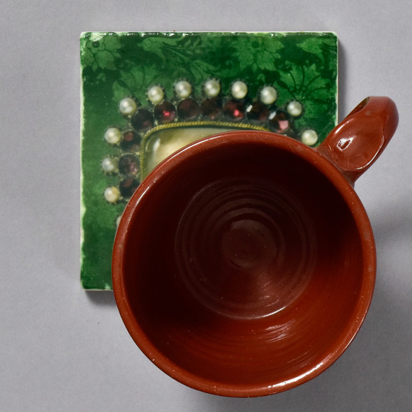 Portrait of Sarah Best's Right Eye Tile by The Painted Lily, with mug