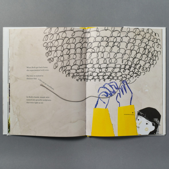 "Interior page of the book ""A Life Made By Hand: The Story Of Ruth Asawa"""