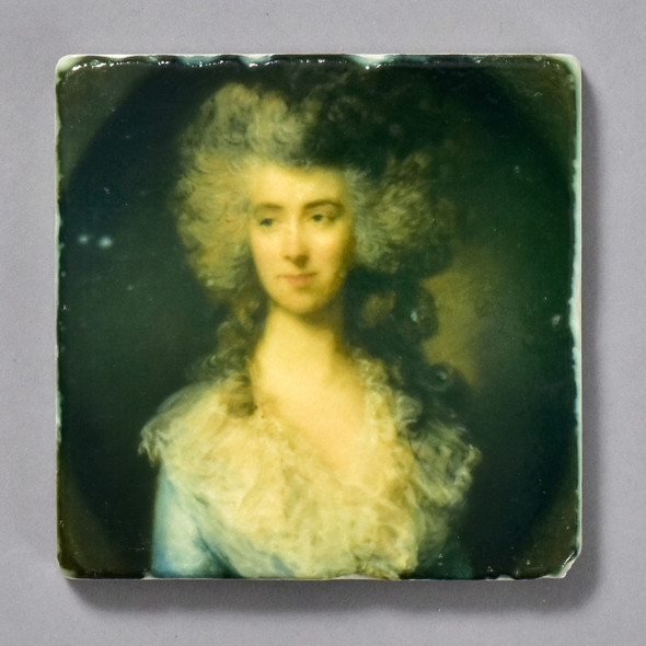 Gainsborough Portrait of a Lady in a Blue Dress Tile by The Painted Lily