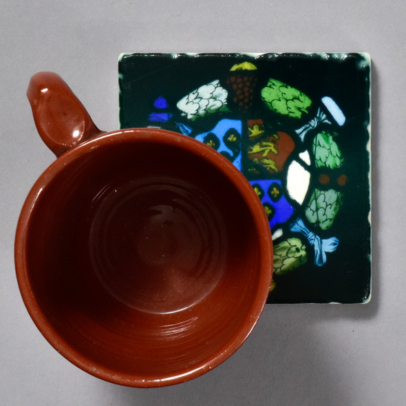 Royal Coat of Arms England Hertfordshire Tile by The Painted Lily, with mug
