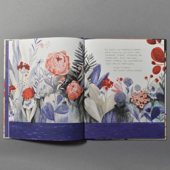 "Interior of the book ""Cloth Lullaby: The Woven Life Of Louise Bourgeois"" by Amy Novesky"