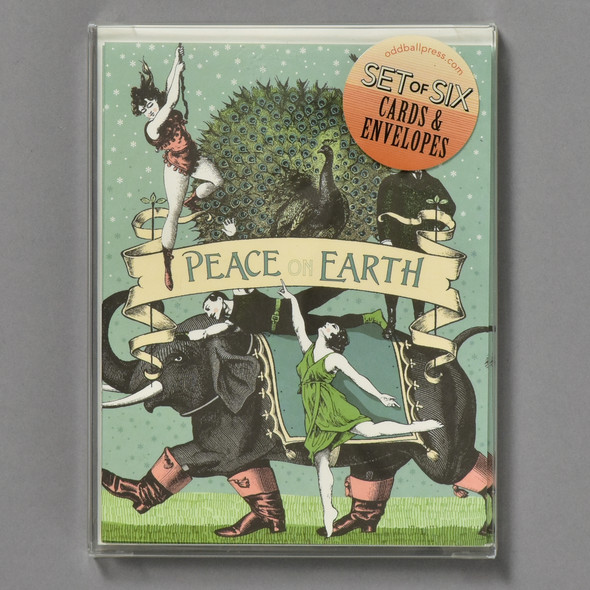 Peacock Peace Holiday Notecards Boxed Set