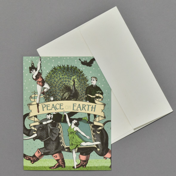 Peacock Peace Holiday Notecards Boxed Set, card and envelope