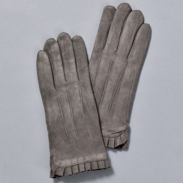 Wrist Ruffle Gloves Charcoal