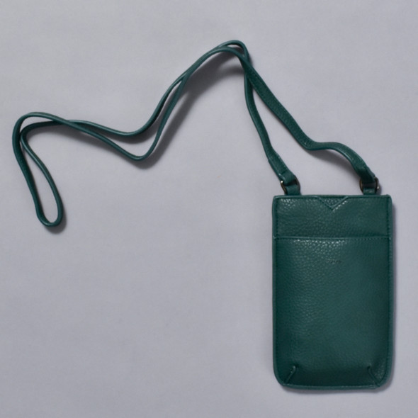 Ink Green Cross Body Purse; image including strap