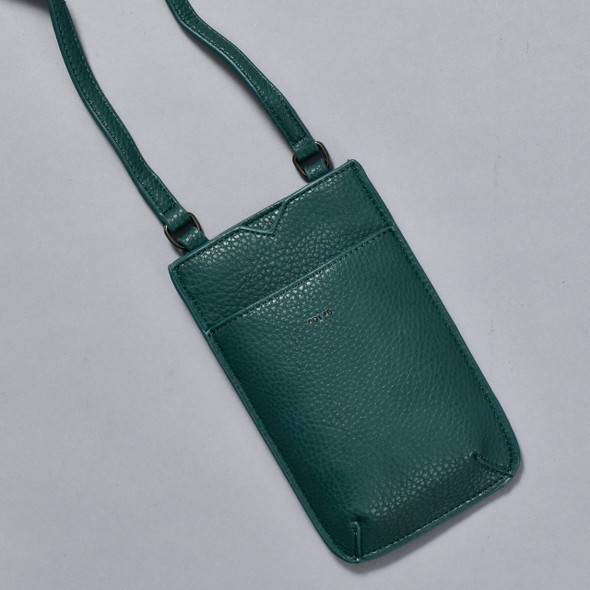 Ink Green Cross Body Purse; detail image