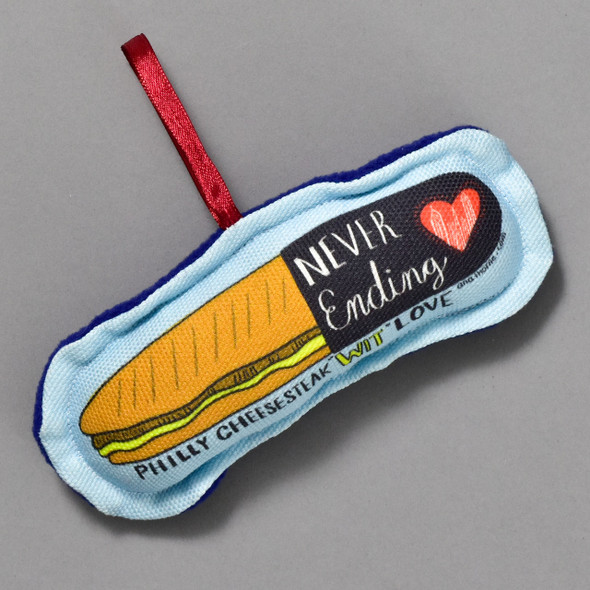 Philly Cheesesteak Ornament by Ana Thorne