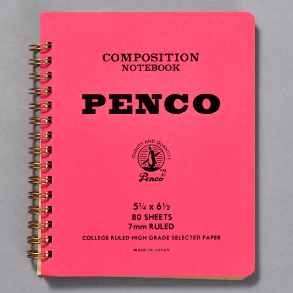 Penco Composition Notebook Red, front cover