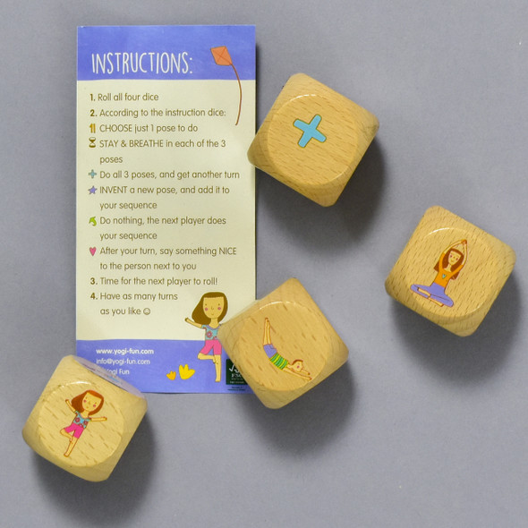YOGI DICE; blocks with instructions sheet