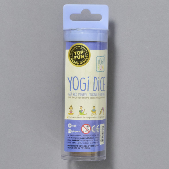 YOGI DICE; exterior of package (tube)
