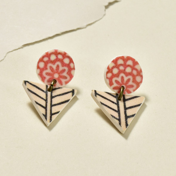 Tiny Arrow Polymer Stud Earrings