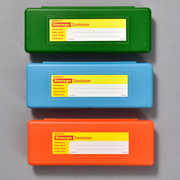 Penco Pencase Storage Containers in green, blue, orange