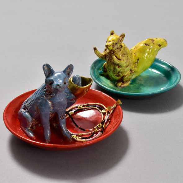 Critter Ring Holders by Priscilla Dahl, two ring holders (sold separately) pictured with accessories