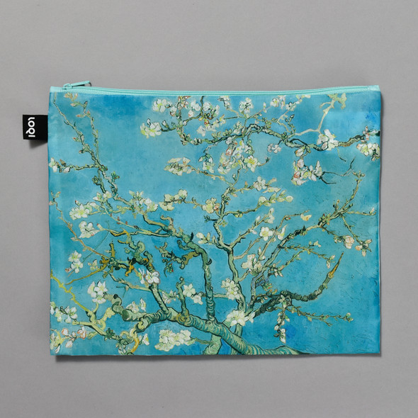 van Gogh Almond Blossoms Zippered Pouch, front