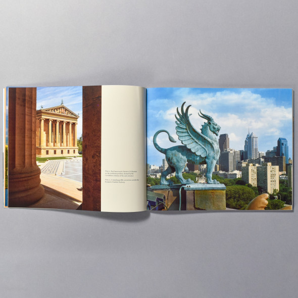 "Interior of the book ""Making A Modern Classic: The Architecture Of The Philadelphia Museum Of Art"""
