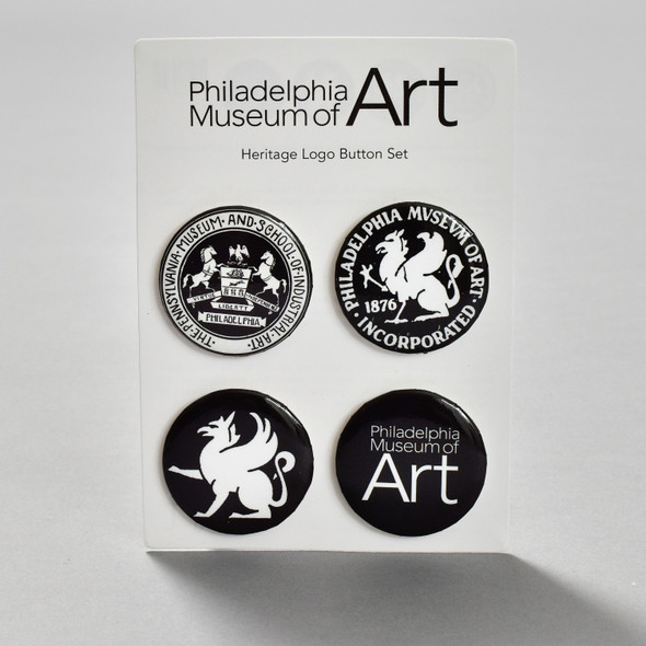 Philadelphia Museum of Art Heritage Logo Pin Set, on card