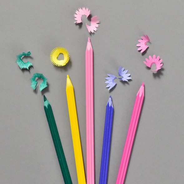Flower Pencils Set, pencils with shavings