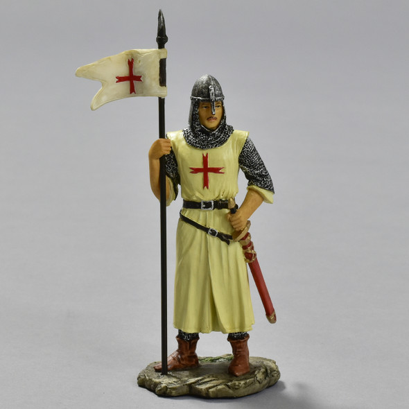 Knights Templar Crusader in Armor Reproduction