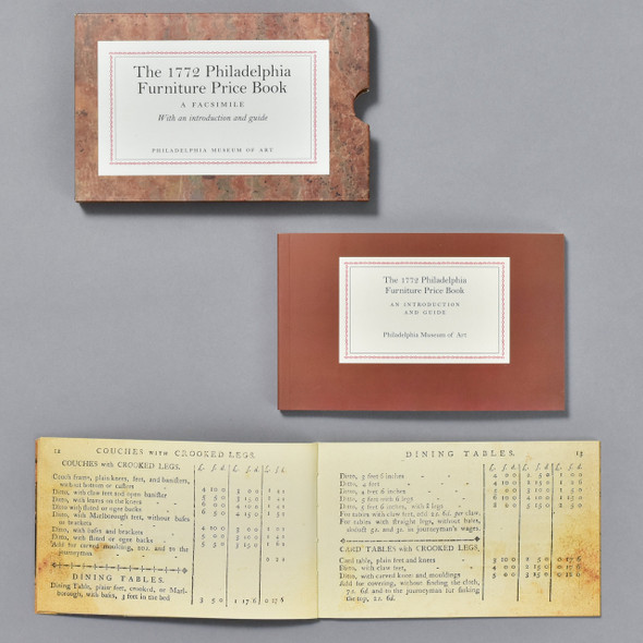 Cover / slipcase and book The 1772 Philadelphia Furniture Price Book: A Facsimile