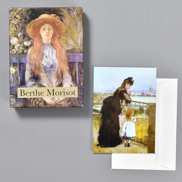 Berthe Morisot Notecard Set, box, card, and envelope
