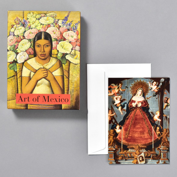 Art of Mexico Notecard Set, box, card, and envelope