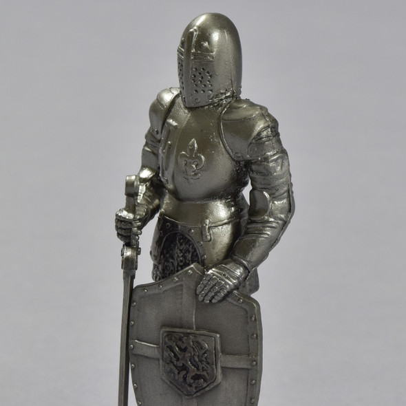 Knight with Shield and Sword Reproduction, close up