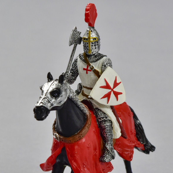 Knights Templar on Horse, close up