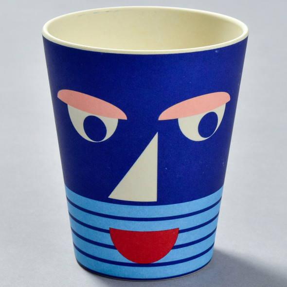 Bamboo Face Cup blue front