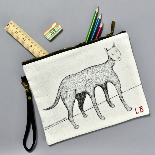 Louise Bourgeois Self Portrait Cat Pouch, with items inside