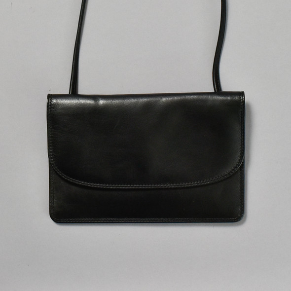 Black Leather Crossbody Purse