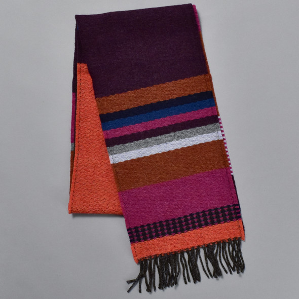 Brightly Striped Lambswool Scarf