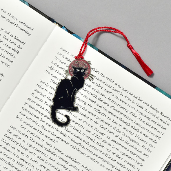 Steinlen Le Chat Noir Bookmark in book