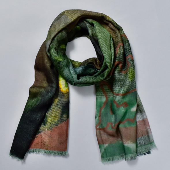Purpose Olive Merino Wool Scarf