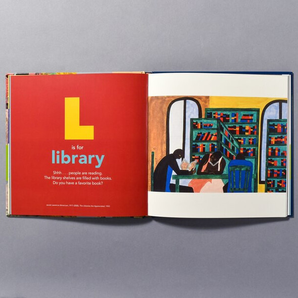 "Interior of the book ""A Is For Art Museum"""