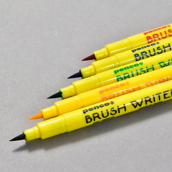 Penco Brush Writer Pen Set, close up showing brush tips