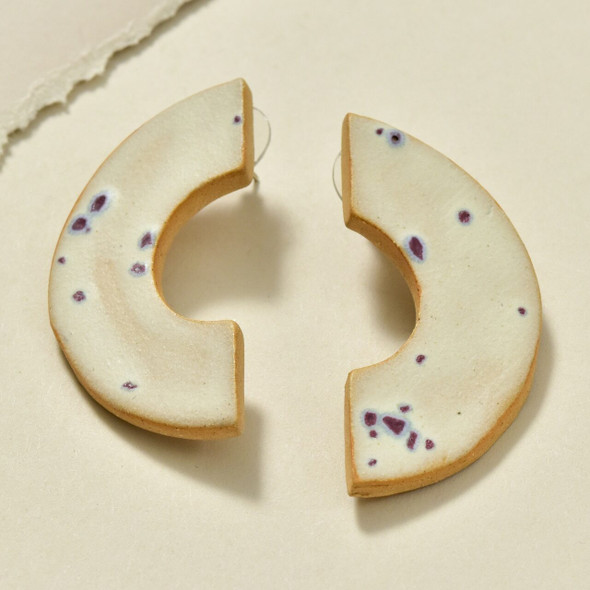Speckled C Shape Earrings