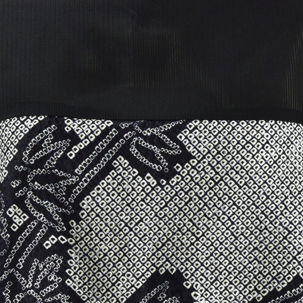 One Of A Kind Black & White Shibori Blouse, close up