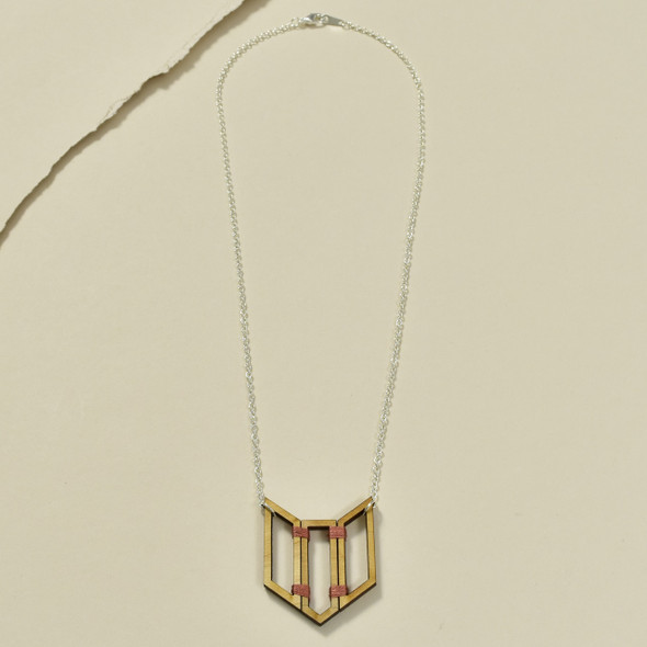 3 Piece Chevron Wood Pendant by Emaye Design