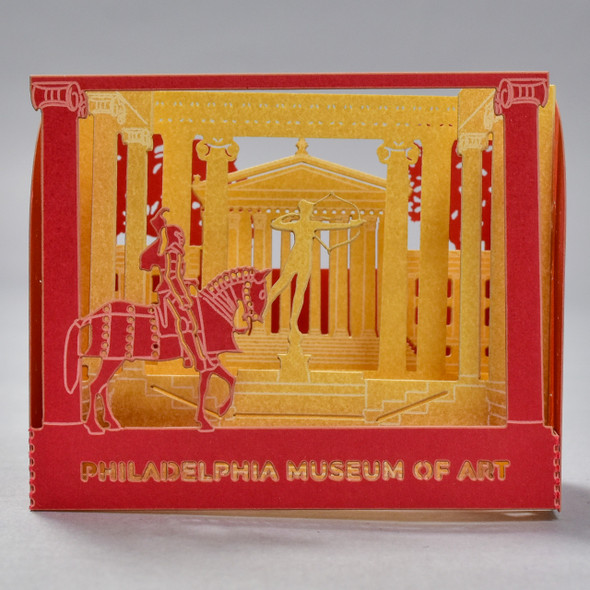 Front of Philadelphia Museum of Art Pop Up Card