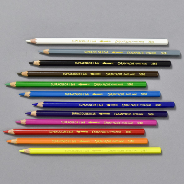 Caran d'Ache Supracolor Soft Watercolor Pencil Set, pencils