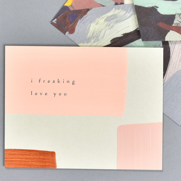 I Freaking Love You Notecard, front, with envelope