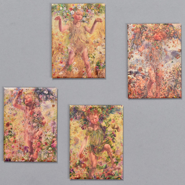 Leon Frederic: Four Seasons Magnet Set