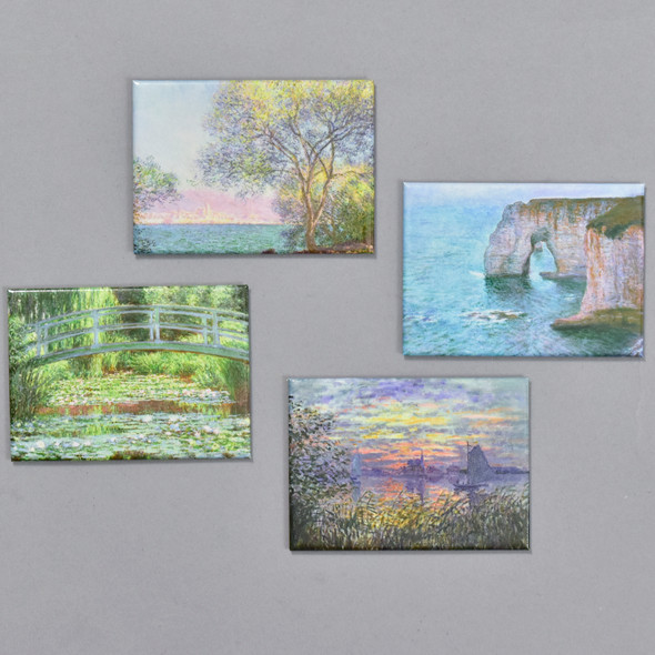 Monet Land and Seascapes Magnet Set