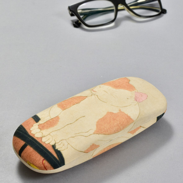 Yoshitoshi: I Want to Cancel My Subscription (Woman Reading a Newspaper) Eyeglass Case