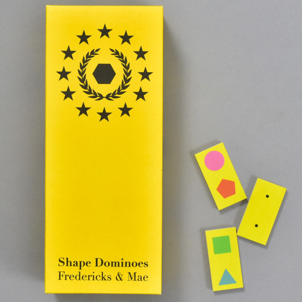Shape Dominoes, packaging and dominoes