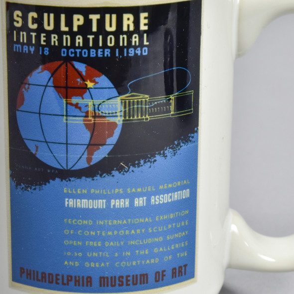 Sculpture International 1940 Exhibition Poster Mug, close up